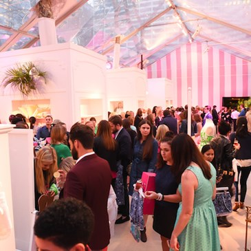Guests mingle at the Lilly Pulitzer for Target Launch Event
