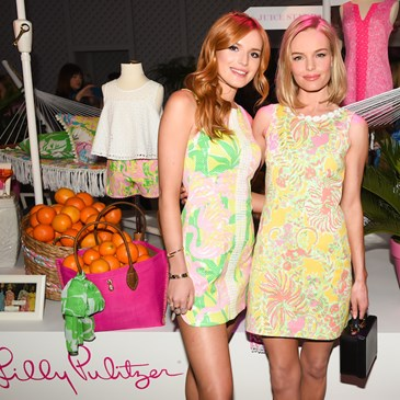 Bella Thorne and Kate Bosworth pose in Lilly Pulitzer for Target shift dresses
