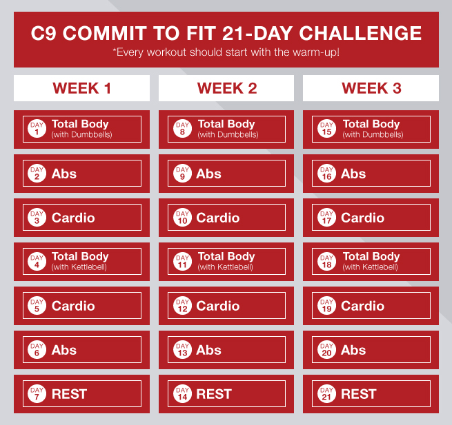 commit to fit with a 21