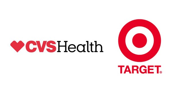 company logos for CVS Health on the left and Target on the right