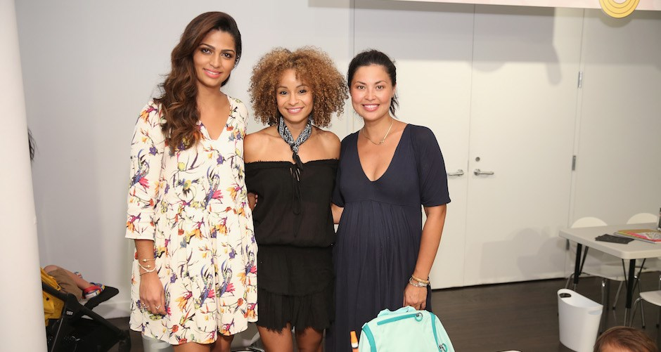 Camila Alves posing with two fellow moms at last week's Target back to school event