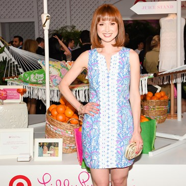 Ellie Kemper poses in a Lilly Pulitzer for Target Shift Dress