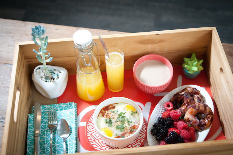 Mother's Day Breakfast in Bed with Succulent Decor