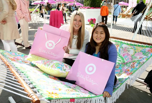 Guests Shop the Lilly Pulitzer for Target Pop Up Shop in Bryant Park