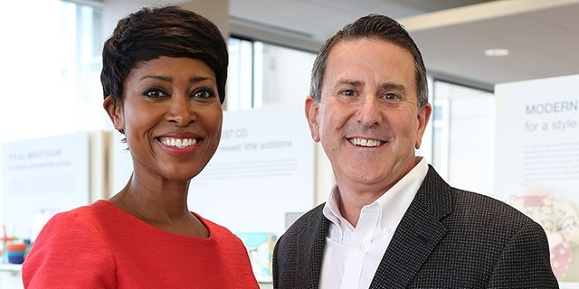 Laysha Ward and Brian Cornell