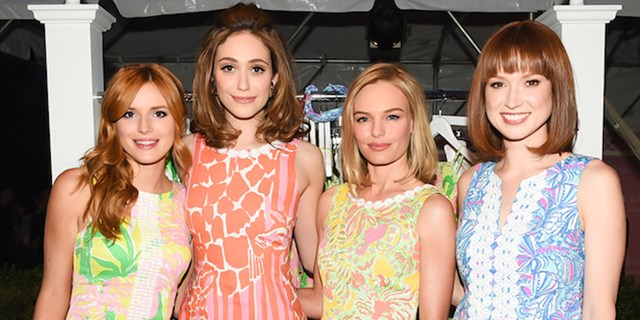 Lilly Pulitzer forTarget Launch with Bella Thorne, Emmy Rossum, Kate Bosworth, and Ellie Kemper