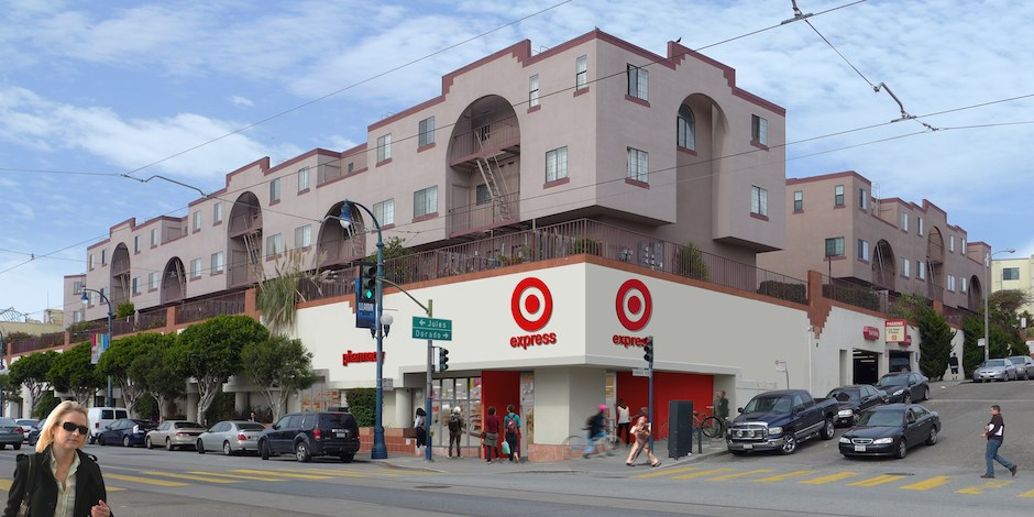 A rendering of the future TargetExpress in San Francisco on Ocean Avenue