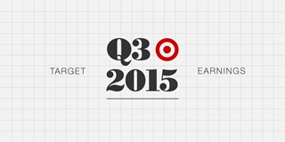 A graphic image that reads Target Q3 2015 earnings