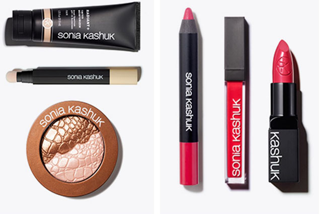 Sonia Kashuk face and lip products.