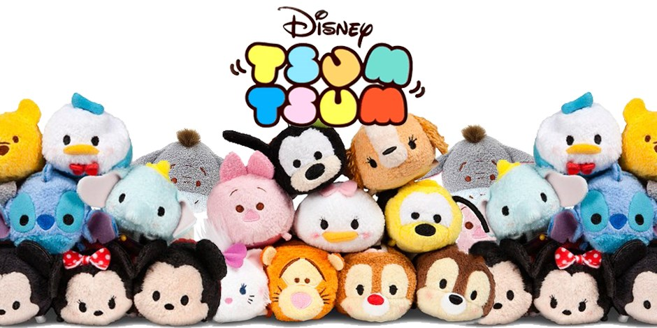 Tsum Tsum stack of disney plush toys