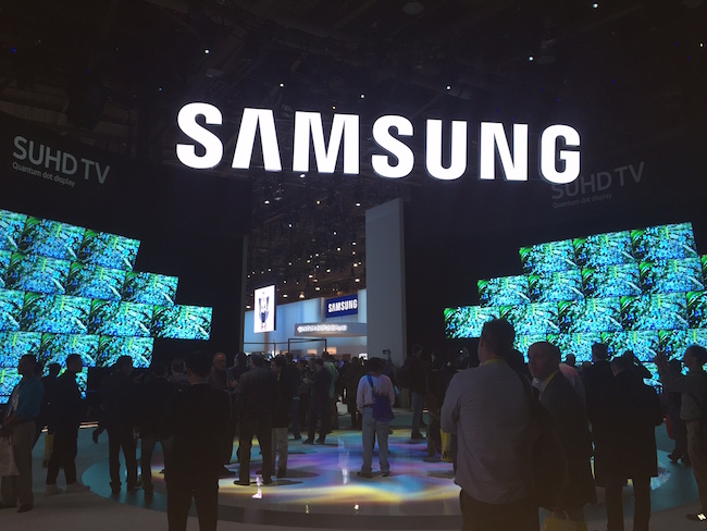 The Samsung exhibit at CES 2016