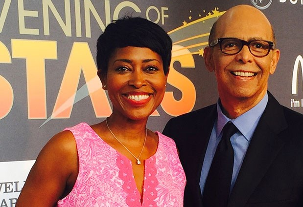 Laysha Ward poses for a photo with UNCF's Dr. Michael Lomax