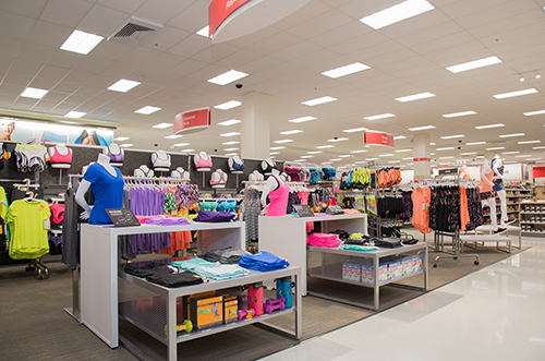 The C9 Champion section filled with colorful athletic apparel for women.