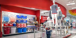 The front-of-store display at a Los Angeles Target store.