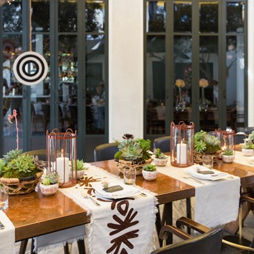 Table display at Nate Berkus's Spring Summer Home Collection Launch Party