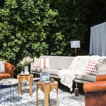 Outside patio display at Nate Berkus's Spring Summer Home Collection Launch Party