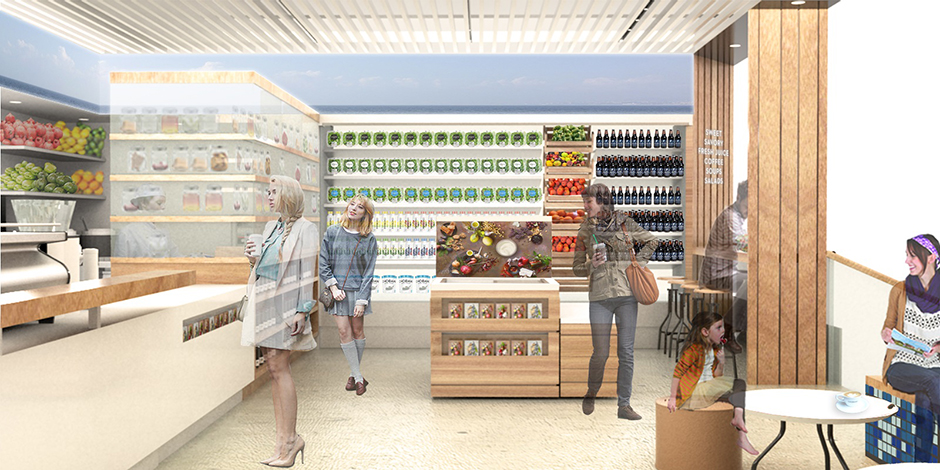 Interior of the Chobani Cafe in Target's upcoming Tribeca store