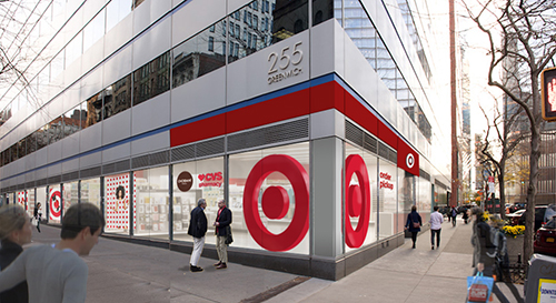 Exterior of the Tribeca Target store