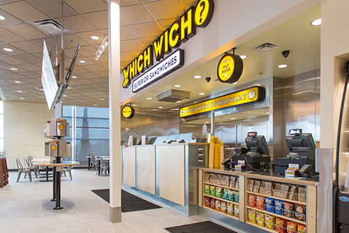 One of the new Which Wich? cafe areas.