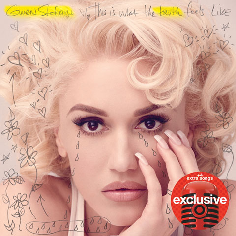 A close-up of Gwen Stefani's face is pictured on her album.