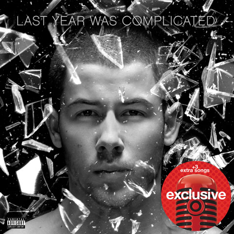 A close-up of Nick Jonas' face on his album cover