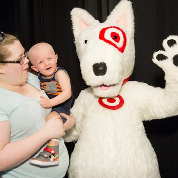 Space rocks target takes st jude patients and their What kind of dog is the target mascot