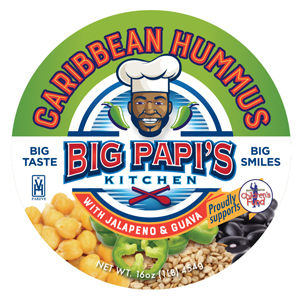 Label for Big Papi's Caribbean Hummus