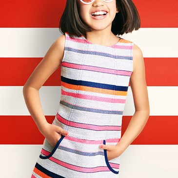 1fad46c2 ... Cat and Jack Lookbook with girl wearing striped dress and sunglasses