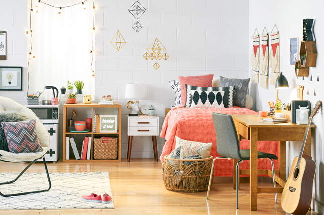 Captivating Katherineu0027s Room Is Full Of Earthy Tones, With A Pop Of Orange. Part 10