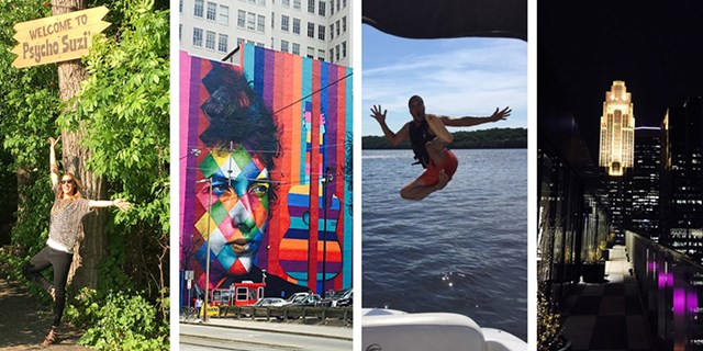 Team members enjoying art, water sports, nightlife and restaurants in the Twin Cities