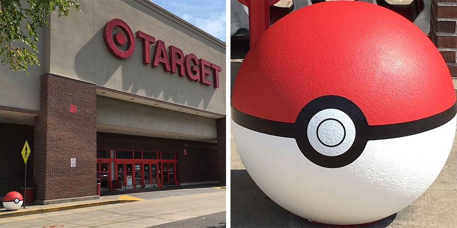 Poke Balls Outside A Target Store