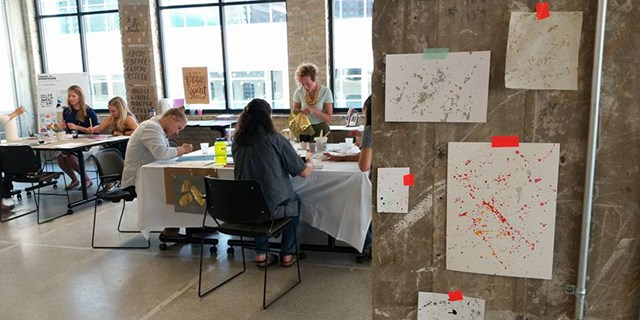 Summer interns create designs at a PD&D co-create event