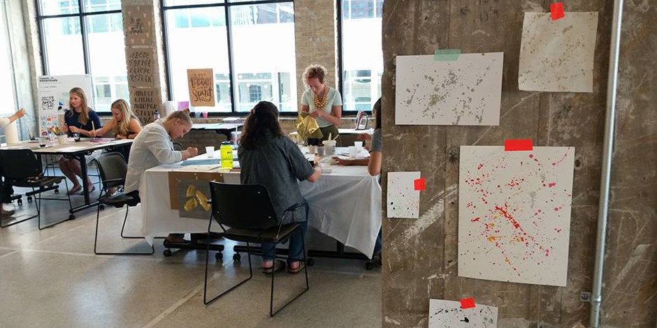 Summer Interns Create Designs At A PDD Co Event