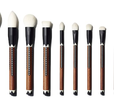 eyebrow brush target. exotic artisan 12-piece brush set eyebrow target