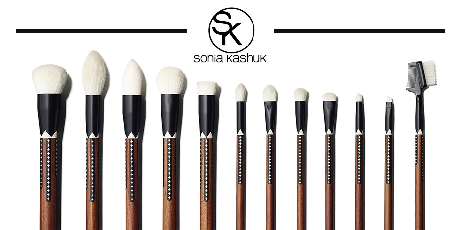 Line up of Sonia Kashuk's new brush collection