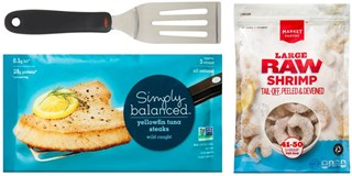 Simply Balanced and Market Pantry seafood products and spatula