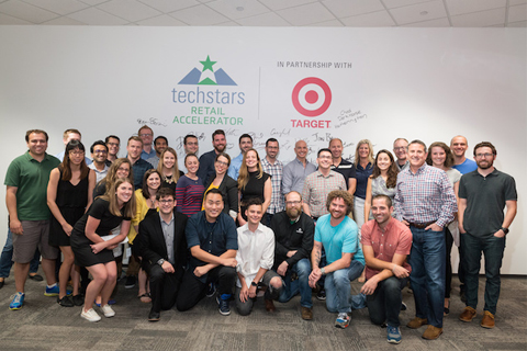 Brian Cornell with the Techstars team
