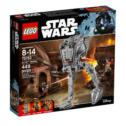 A black LEGO box picturing the Walker and all peices