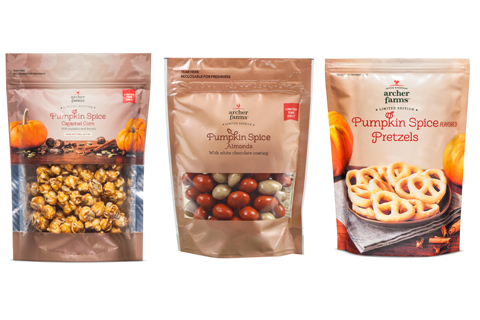 Archer Farms pumpkin spice caramel corn, almonds and pretzels