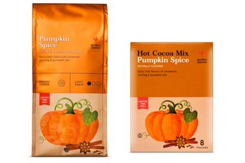 Archer Farms Pumpkin Spice coffee and hot cocoa