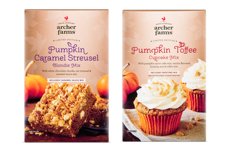 Archer Farms pumpkin caramel streusel blondie and cupcake mix