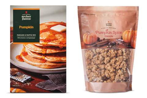 Archer Farms pumpkin pancake and waffle mix and pumpkin spice granola