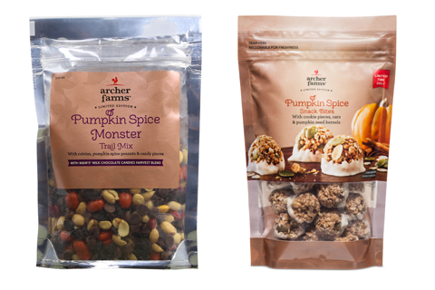 Archer Farms pumpkin spice monster trail mix and snack bites