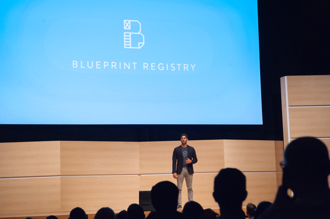 Take a look inside demo day nevin shetty presents in front of the blueprint logo malvernweather Gallery
