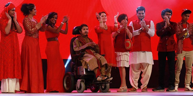 Target India team members onstage at the annual meeting