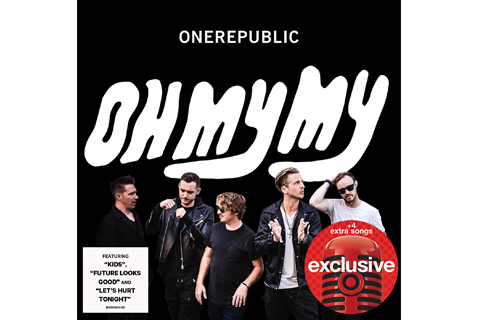 The cover of One Republic's Oh My My album, with a red microphone image noting 4 extra songs