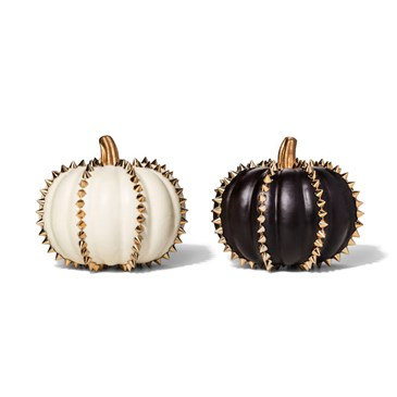 Black and white studded pumpkins