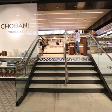 Chobani yogurt cafe inside the store