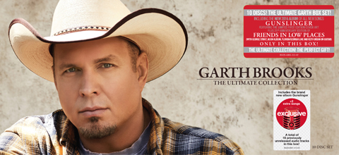 "The cover of ""Garth Brooks: The Ultimate Collection"" box set"