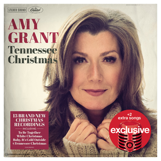 Amy Grant on the cover of her new Christmas album